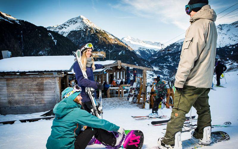 Snowboarden in Sölden